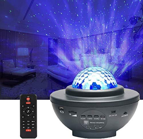 Proiettore Stella, CompraFun Lampada Proiettore Stella Bluetooth, Nebulosa LED con Telecomando con Timer, Lampada Comodino Bambini, Esterno, Casa, Feste Luce Notturna, Decorazioni, Regali