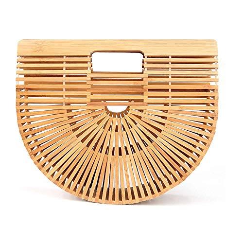 GNSDA Bamboe schoudertas, handtas, tas, grote capaciteit, waterdicht, duurzaam voor thuis, winkelen, toerisme,