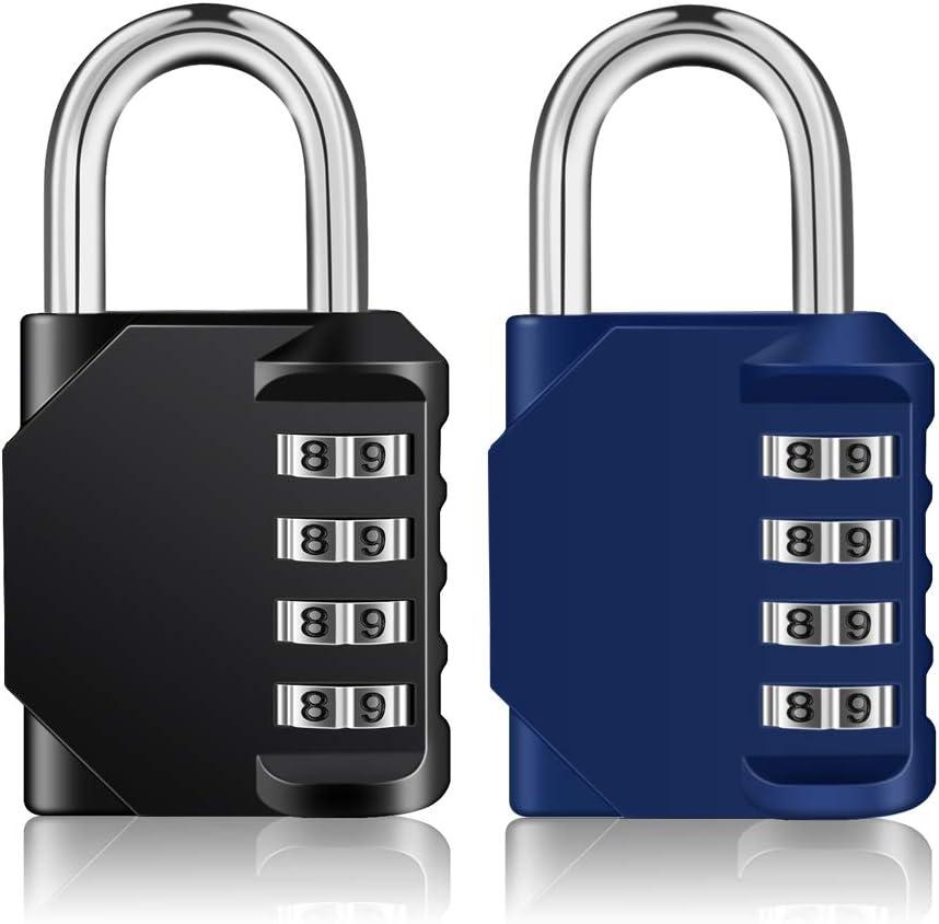 Award ZHEGE 2 Pack Combination Lock 4 Digit Locker for Pa Max 73% OFF