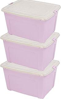 ROSG Boîte de Rangement Lot de 3 boîtes de Rangement avec Couvercle en Plastique (PP recyclé), sans BPA, Couleur Anthracit...
