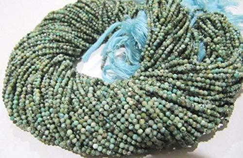 Shree_Narayani Natural Zinayan turquesa 2mm Rondelle facetado perlas hebra 13 pulgadas largo semi preciosa piedra granos precios al por mayor granos de piedra natalicia 2 hebras