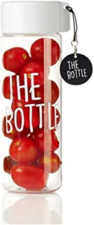 The Bottle Transparent Bucket Pail Water Bottle Non-Toxic 500ml BPA-Free White