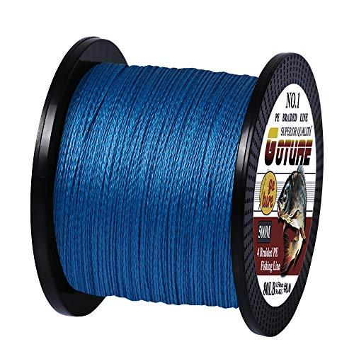 Goture peライン2号 釣糸 4編 釣り糸 peライン 高強度 高耐久 高飛距離 耐磨耗 低伸度 500m ブルー