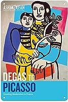 ピカソティンサイン装飾ヴィンテージ壁金属プラークカフェバー映画ギフト結婚式誕生日警告のためのレトロな鉄の絵