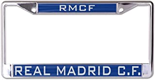 Wincraft Real Madrid Inlaid Metal License Plate Frame