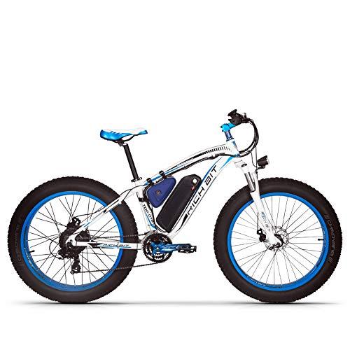 TOP022 E Bike Pedal Assist Bicicleta de Nieve eléctrica para Adultos, Rueda de 26 Pulgadas Motor de 1000 W Batería de Litio de 48 V, Pantalla LCD de Bicicleta de Freno de Disco Shimano (en Europa)