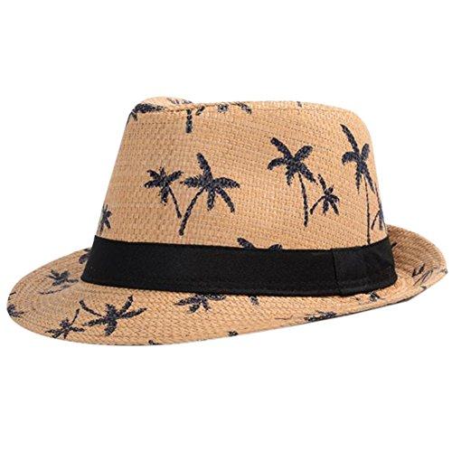Leisial Sombrero Playa Paja de Viajes Vacaciones Verano Gorro Estilo Británico para Hombre
