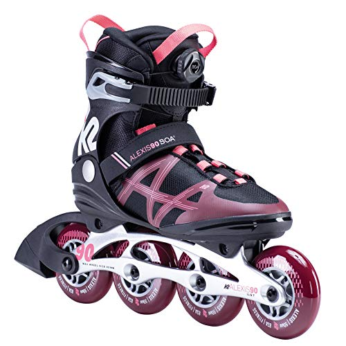 K2 Skates Damen ALEXIS 90 BOA Inline Skates, black-purple, 36.5 EU (4 UK)
