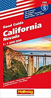 Hallwag USA Road Guide 05. California 1 : 1 000 000: Nevada. Straßenkarte. Road map. Index. National Parks. City Maps. San Francisco, Los Angeles, San Diego, Yosemite, Death Valley, Las Vegas