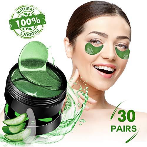 Augenpads Collagen Eye Mask Augengel-Pads Anti-Aging unter Augengelpads Augenklappe mit Hyaluronsäure für feine Linien, Falten, Schwellungen und Augenringe, 30 Paare