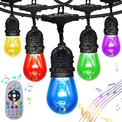 FMIX Color Changing Outdoor String Lights,24FTS...
