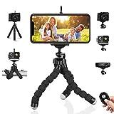 Treppiede per cellulare Treppiedi per fotocamera flessibile Mini supporto portatile leggero + Clip Bluetooth per telefono e telecomando per iPhone, Android Samsung, Videocamera sportiva GoPro