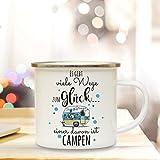 Emaille Camping Tasse mit Spruch