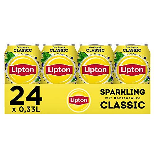 LIPTON ICE TEA Sparkling Classic, Eistee mit Kohlensäure und Zitronen Geschmack (24 x 0.33l)