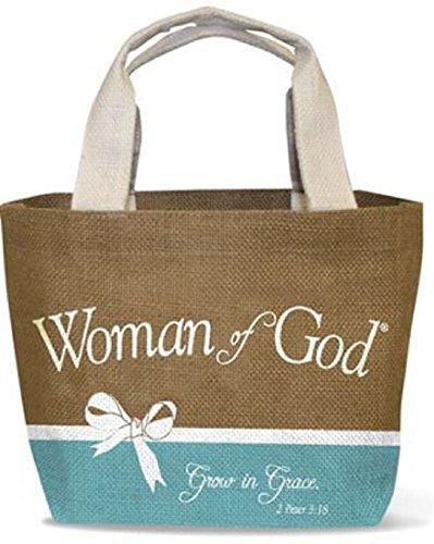 Woman of God Jute Tote Bag