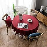 Rosso Natale Tovaglia,Colore A Tinta Unita Poliestere Tovaglie per Kitchen Dinning,Cena di Vacanza,Rettangolo Eleganza Panno da Tavola-A Diametro:90cm
