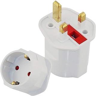 Royal Apex EU to UK Plugs Adapter, British Plug to EU Schuko Female Plugs Power Converter, 2 Pin Socket EU to UK Travel Ad...