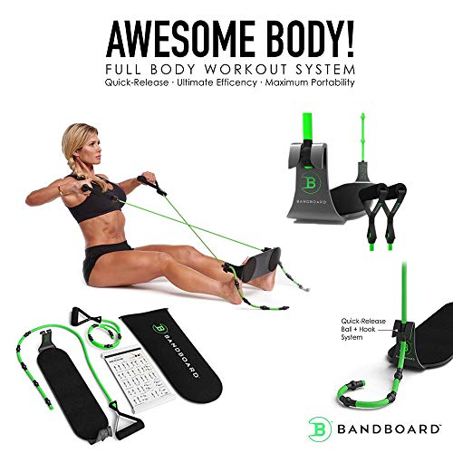 BandBoard BB1 Portable Home Gym - The Most Efficient, Convenient, and Compact Band-Building Workout...