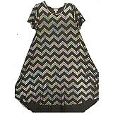 Lularoe Carly Small S Elegant Collection Dark Gray Rainbow Sparkle Swing Dress fits Women 6-8