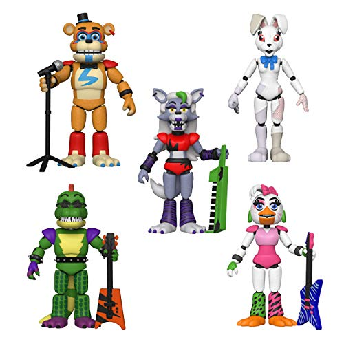 Five Nights at Freddy's Security Breach Action Figures (All 5 Piece Set)
