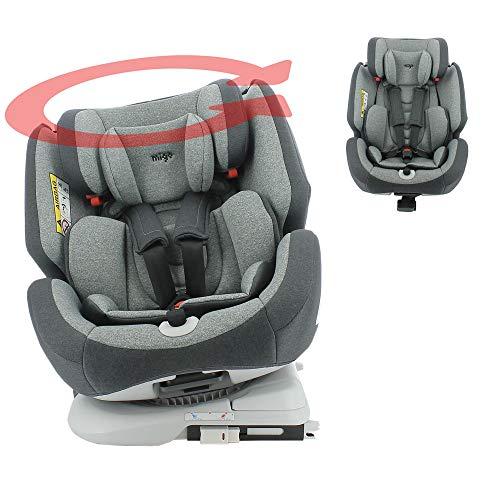 Autositz Isofix One 360° drehbar, Gruppe 0+/1/2/3, 0-36 kg, Rücken zur Straße, 0-18 kg, seitlicher Schutz, mit integriertem Spiegel, Migo