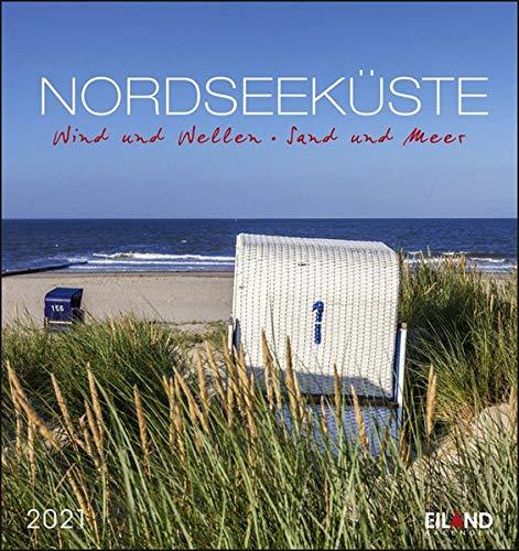 Nordseeküste Postkartenkalender 2021 - Kalender mit perforierten Postkarten - zum Aufstellen und Aufhängen - mit Monatskalendarium - Format 16 x 17 cm: Wind und Wellen - Sand und Meer