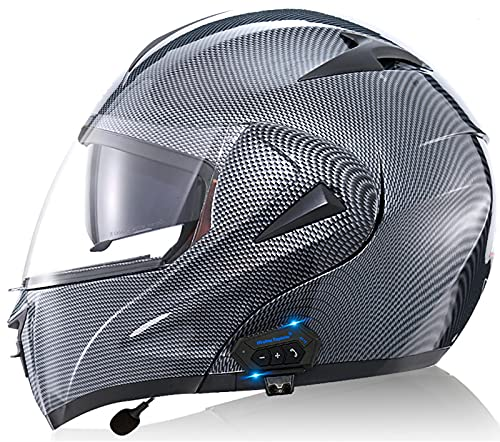 Casco Moto Modular Bluetooth ECE Homologado, Casco De Moto Integral Scooter Para...