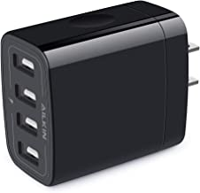 Wall Charger, USB Charger Adapter, Ailkin 4.8A 4Multi Port Fast Charging Station Power Base Block Plug Cube Brick for Phone 11Pro Max/XR/XS MAX/8/7 Plus, Samsung A10e/Note 10+/S10 Kindle Fire USB Plug