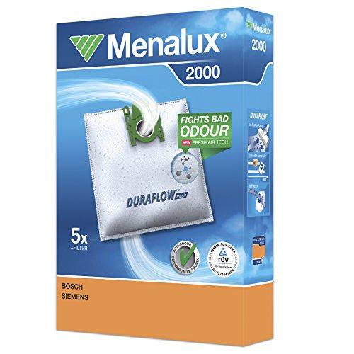 MENALUX 900196146 2000/5xStaubsaugerbeutel+1 GRATIS-ZUSCHNITTFILTER 20x25cm