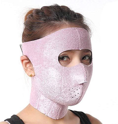 Artefact lifting facial en forme de V Face Ceinture de levage, sommeil poudre fibre visage Bandage V visage bâton lifting visage de levage Fermeté Anti-affaissement double menton Réducteur Full Face B