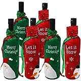 Moji Set di 6 Sacchetti per Bottiglie di Vino con Design Assortiti - Perfetti per Regali di Natale e Altro