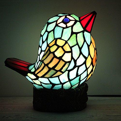 Européenne créative Blue Bird Lampe de table Lampe pour enfants Night Light