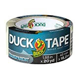 Duck Brand 241414 Single Roll Transparent Duct Tape, 1.88' x 20 yd, Clear