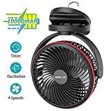Best Battery Operated Fans - OPOLAR 10000mAh Clip on Fan, 7-Inch Battery Operated Review