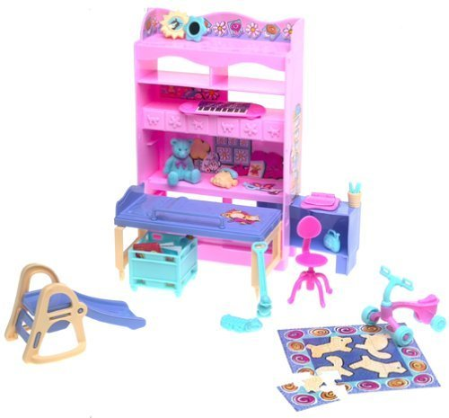 Barbie KELLY BEDROOM All Around Home Playset (2000