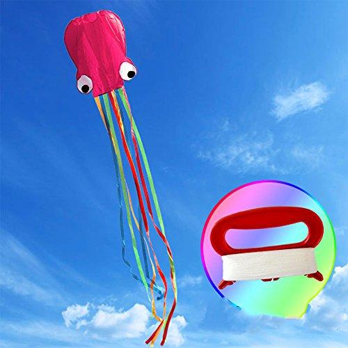 Seilent Kite Cometa Deportes al Aire Libre Cometa de Truco de con manija y Bolsa de Almacenamiento para niños Adultos Velas niños, fácil de Volar – liviano y Estable