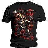 Iron Maiden Unisex Tee: Benjamin Breeg Red Graphic - Medium - Black