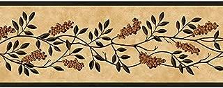 Green Fruit Vine Wallpaper Border