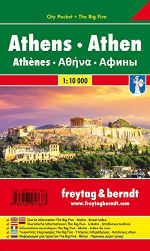 Athen, Stadtplan 1:10.000, City Pocket + The Big Five (freytag & berndt Stadtpläne)