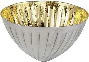 Schwimmschale rund Gold Teelichthalter Schwimmkerzen Tischdeko