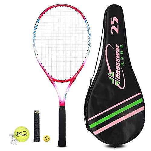 MAIBOLE Junior Tennis Racquet Recreational Tennis Racket PreStrung Head Light Balance for Beginners Youth Kids Good Control Grip