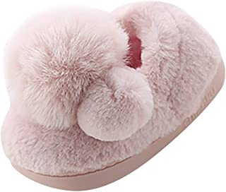 Toddler Kids Girls Boys Cute Cartoon Soft Warm Plush Lining Non-Slip Indoor Slippers Winter House Shoes