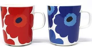 マリメッコ UNIKKO(ウニッコ)マグカップ/赤、青 セット