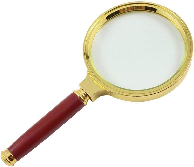 Online limited product High-Grade Delicate Ranking TOP16 Mahogany Handle M Imitation Magnifying Glass