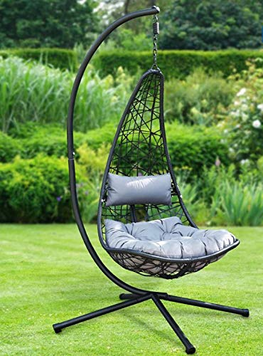 New York Hanging Egg Chair with Cushions 112cm x 64 x 39cm- Weight 27kg