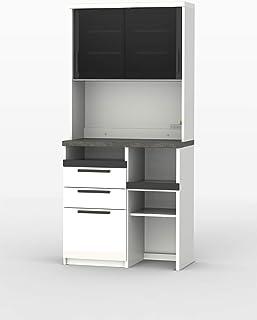 パモウナ 食器棚SY プレーンホワイト 幅90×高さ198×奥行50 日本製 SY-900R