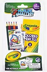 Officially Licensed Crayola Product Includes: 5 Colored Pencils, 1 Hard Plastic Carrying Case and 2 Coloring Books Great for Mom's and Dad's on the go with kids who need to be self-entertained now and then! Perfect for kids while waiting in restauran...