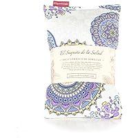 Saco Térmico de Semillas Aroma Lavanda, Azahar o Romero Tejido Mandalas Lilas (Sin Aroma, 50_cm)