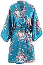 Women Kimono Dressing Gown Bath Robe Lingerie Nightdress Sexy Cherry Blossom Babydoll Chemises Dress Nightwear Nightgown