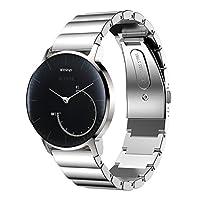 XIHAMA For 18MM腕時計 バンド Huawei Watch/Huawei Fit/Withings (Nokia)Steel HR バンド ステンレススチール ビジネススタイル 腕時計ストラップ 18MM 20MM 22MM バンド 高級 ベルト 精密制作 交換バンド (18MM, シルバー)